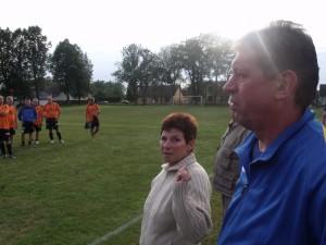 Paní Křížová a pan Šmejkal před vyhlašováním vítězů